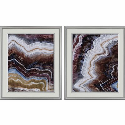 Minerals I by Butler 2 Piece Framed Graphic Art Set 3172