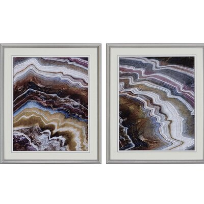 Minerals II by Butler 2 Piece Framed Graphic Art Set 3173