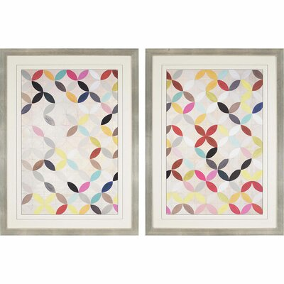 'Collective' 2 Piece Framed Graphic Art Print Set