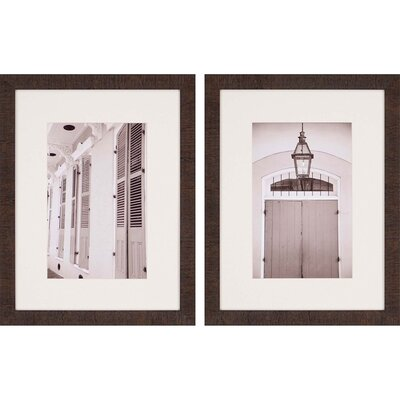'Architecture II' 2 Piece Framed Photographic Print Set