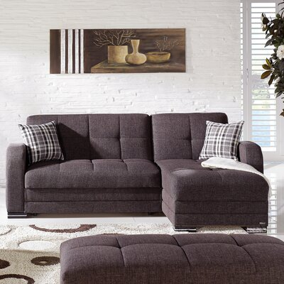 Kubo Sleeper Sectional Upholstery: Andrea Brown