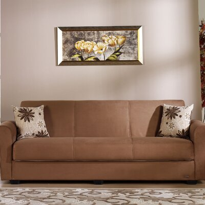 Elita Sleeper Sofa Upholstery: Rainbow Brown