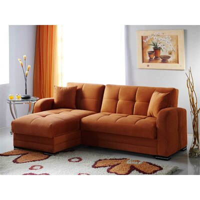 Kubo Sleeper Sectional Upholstery: Rainbow Orange