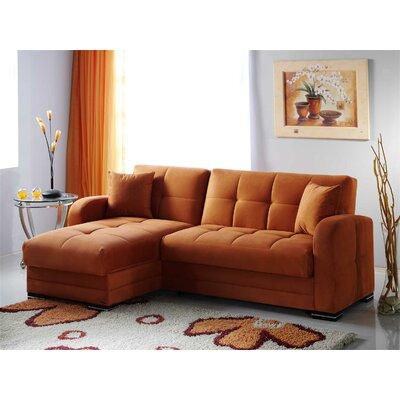 Kubo Sleeper Sectional Upholstery: Rainbow Orange