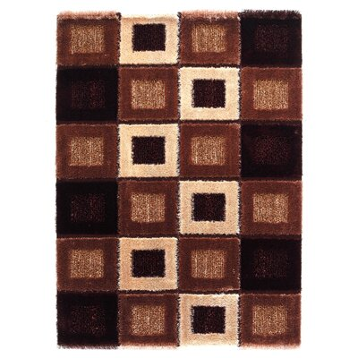 Signature Square Brown Shag Rug Rug Size: 53 x 77