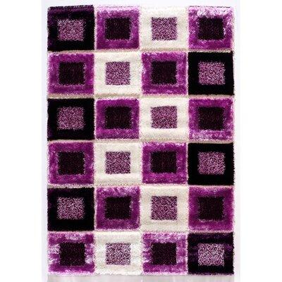 Signature Purple Shag Rug Rug Size: 53 x 77