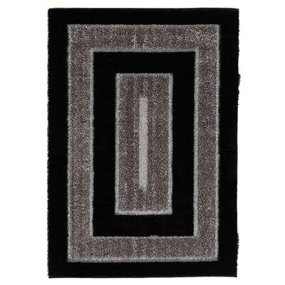 Signature Black Rug Rug Size: 53 x 77