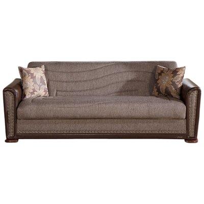 Alfa Sleeper Sofa Upholstery: Brown
