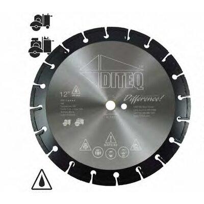 "Diteq A46 Pro VI Diamond Blade - Size: 12"" x .145"" x 1"""