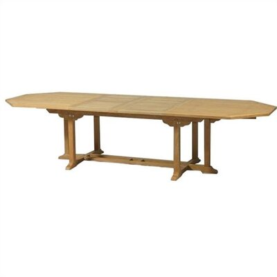 Grand Cayman Teak Octagonal Double Extension Dining Table