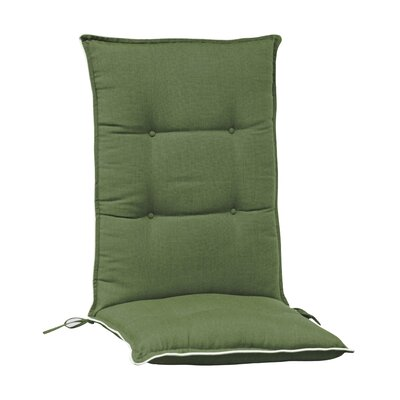 Accent High Back Chair Cushion (Set of 2) (Set of 2) Color: Green