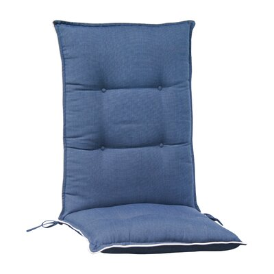 Accent High Back Chair Cushion (Set of 2) (Set of 2) Color: Navy