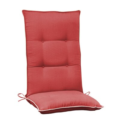 Accent Outdoor Chair Cushion Color: Red