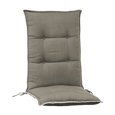 Accent High Back Chair Cushion (Set of 2) (Set of 2) Color: Grey