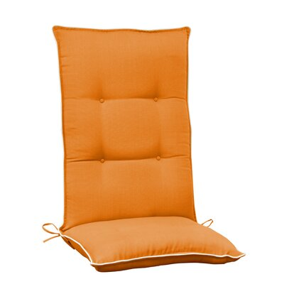 Accent High Back Chair Cushion (Set of 2) (Set of 2) Color: Orange