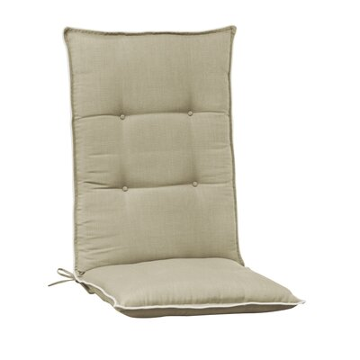Accent High Back Chair Cushion (Set of 2) (Set of 2) Color: Tan