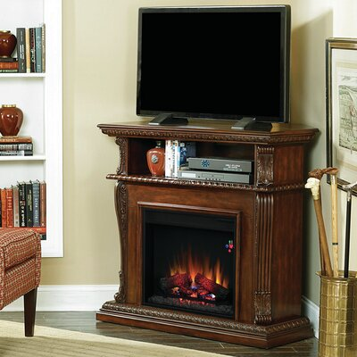 "Classic Flame Corinth 42"" TV Stand with 23EF031GRP Electric Fireplace (2 Pieces) - Finish: Burnished Walnut at Sears.com"