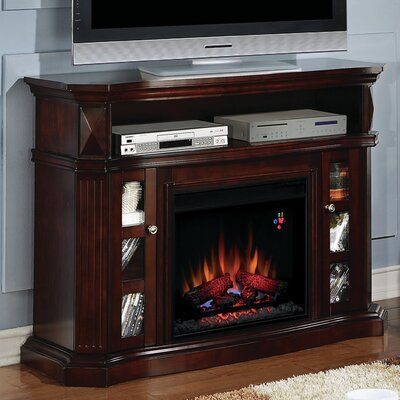 Lincolnville Contemporary Wood TV Stand with Fireplace