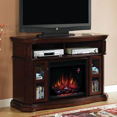 Lincolnville Wood TV Stand with Fireplace