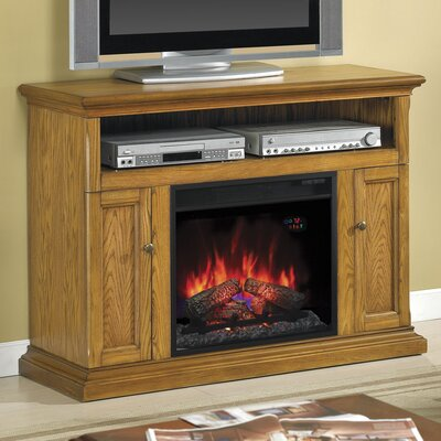 Lincolnville Traditional Wood Frame TV Stand with Fireplace