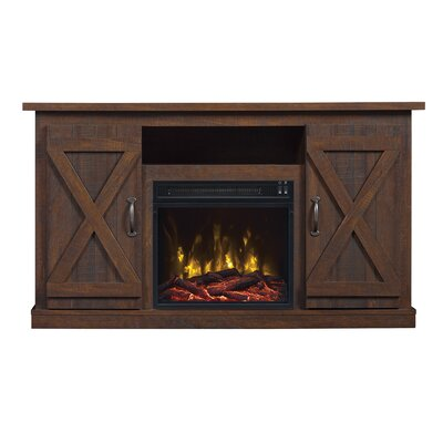 Serein 48 TV Stand with Fireplace Color: Saw Cut Espresso