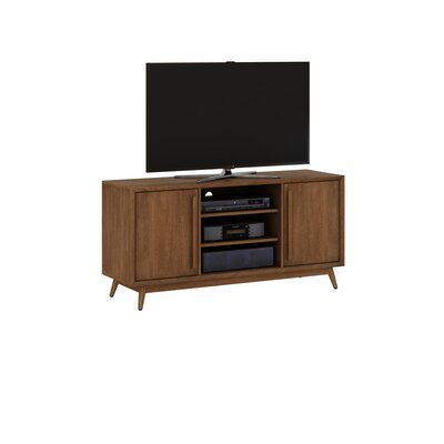 Silvia 54 TV Stand with Optional Fireplace Finish: Mahogany Cherry, Fireplace Included: Yes