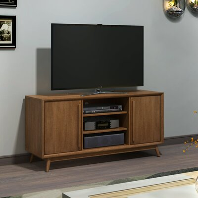 Silvia 54 TV Stand with Optional Fireplace Color: Broadwalk Birch, Fireplace Included: No