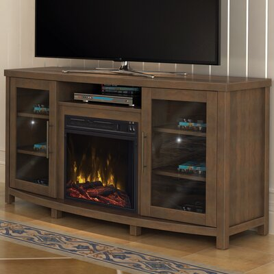Colegrove TV Stand with Fireplace Color: Stanton Birch