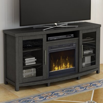 Colegrove TV Stand with Fireplace Color: Tifton Oak