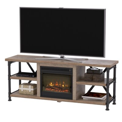 Bailys 54 TV Stand Color: Wood, Fireplace Included: Yes