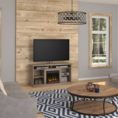 Phelps 54.5 Fireplace TV Stand Color: White Oak, Width of TV Stand: 55
