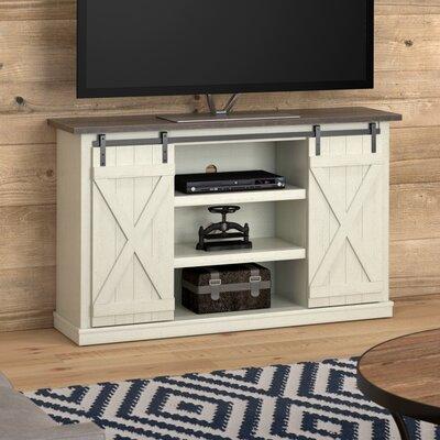 Bluestone 54 TV Stand Color: Off White/Medium Pine Top