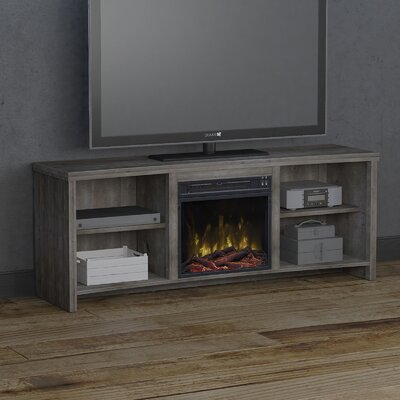 Cadle 60 TV Stand with Fireplace Color: Valley Pine
