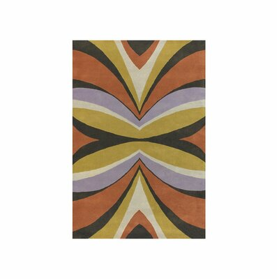 Bense Garza Yellow/Purple Area Rug Rug Size: 7'9