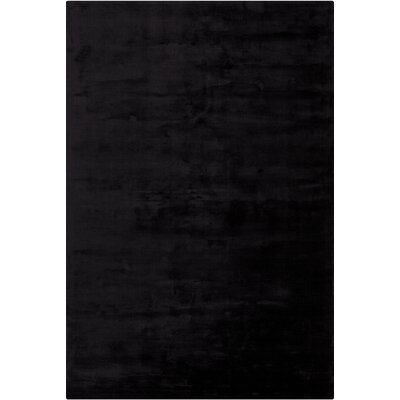 Mabel Hand Woven Black Area Rug Rug Size: Rectangle 79 x 106