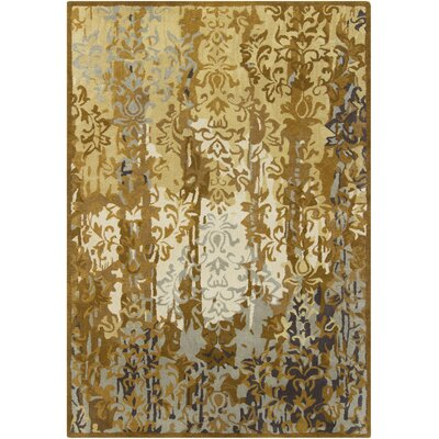 Gagan Gold Area Rug Rug Size: 7 x 10