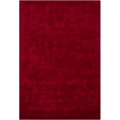 Clarissa Red Solid Rug Rug Size: 53 x 77