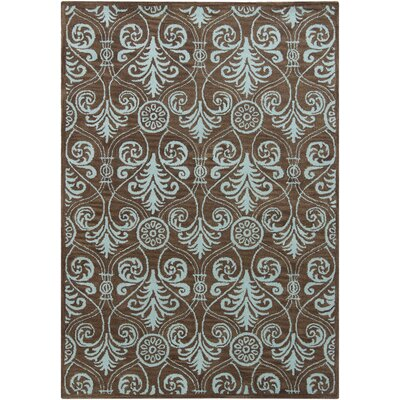 Geren Brown Abstract Area Rug Rug Size: 5 x 7