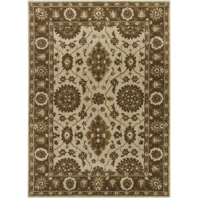 INT Beige/Brown Floral Area Rug Rug Size: 9 x 13