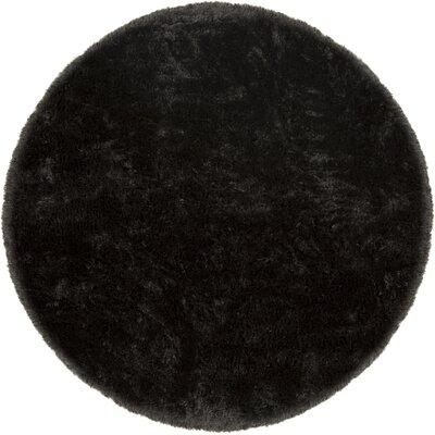 Joellen Black Area Rug Rug Size: Round 79