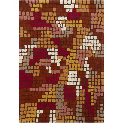 Carol Wool Brown Abstract Area Rug Rug Size: 7 x 10
