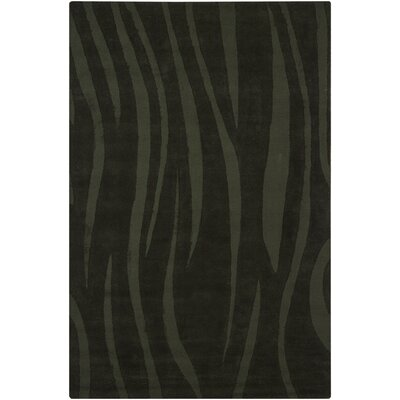 Ast Balck Abstract Area Rug Rug Size: 5 x 76