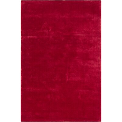 Mabel Wool Red Area Rug Rug Size: 4 x 6