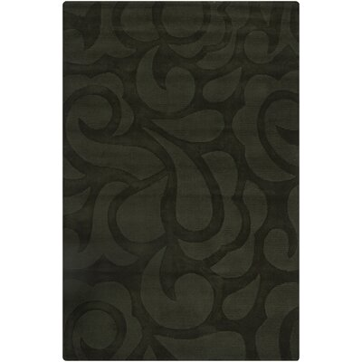 Stehle Black Floral Area Rug Rug Size: 5 x 76