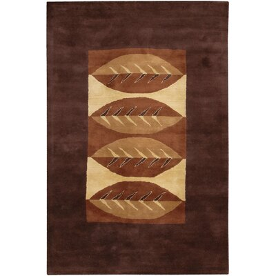 Castlewood Brown Floral Area Rug Rug Size: Rectangle 9 x 13