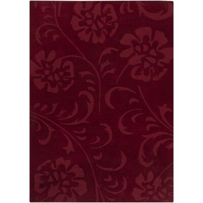 Canistota Red Floral Area Rug Rug Size: 6 x 9