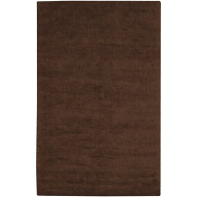 Mabel Brown Solid Area Rug Rug Size: 9 x 13