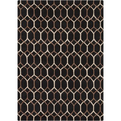 Nikisha Black Geometric Rug Rug Size: 5 x 7