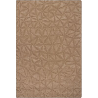 Cooley Beige Solid Area Rug Rug Size: 53 x 77