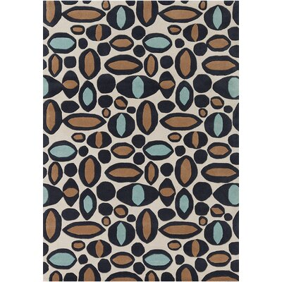Steward White Abstract Rug Rug Size: 7 x 10